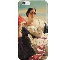 Franz Xaver Winterhalter - Portrait Of Leonilla, Princess Of Sayn-Wittgenstein-Sayn  iPhone Case/Skin
