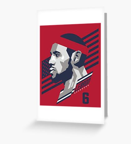 Powerful Slam Logo of Lebron Greeting Card