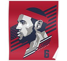 Powerful Slam Logo of Lebron Poster
