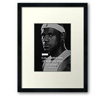 Lebron James Quotes Framed Print