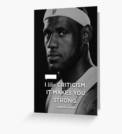 Lebron James Quotes Greeting Card