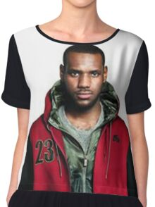 Young Lebron On Jeans Chiffon Top