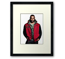Young Lebron On Jeans Framed Print