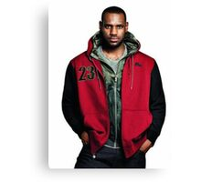 Young Lebron On Jeans Canvas Print