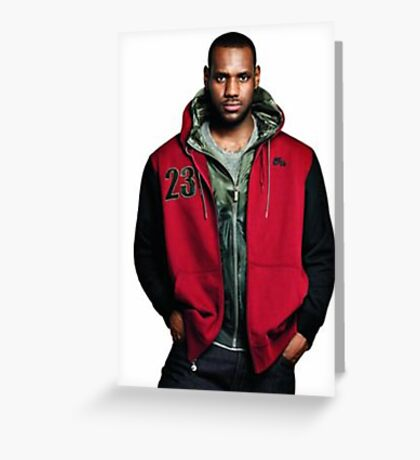Young Lebron On Jeans Greeting Card