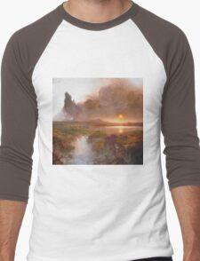 Vintage famous art - Frederic Edwin Church - American Landscape Men's Baseball ¾ T-Shirt
