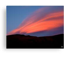 Sunset Paints Stinson Canvas Print