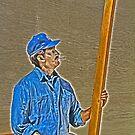 Street Art Carpenter by Chet  King