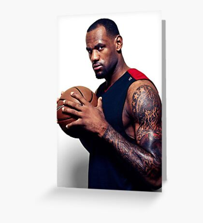 Cool Tattoo Design Of Lebron Greeting Card