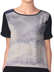Wave Abstract Chiffon Top