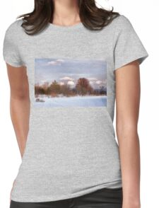 Colorful Winter Day on the Lake Womens Fitted T-Shirt