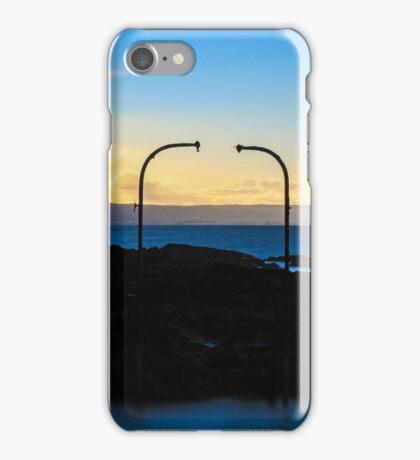 Old Diving Platform at Sunset iPhone Case/Skin
