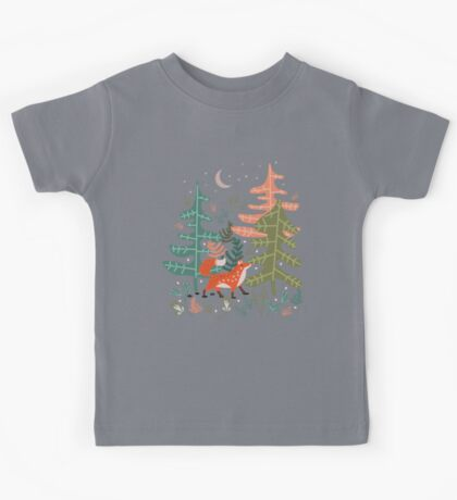 Evergreen Fox Tale Kids Tee