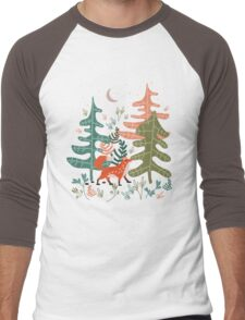Evergreen Fox Tale Men's Baseball ¾ T-Shirt