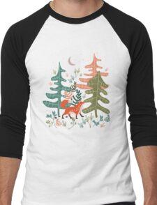 Evergreen Fox Tale Men's Baseball ¾ T-Shirt