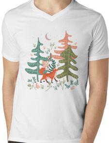 Evergreen Fox Tale Mens V-Neck T-Shirt