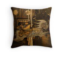 The Golden Carousel Horse Throw Pillow