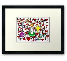 Christian doodles Framed Print