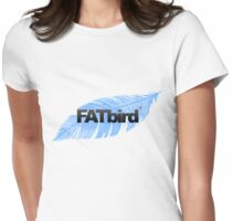 FATbird feather logo Womens Fitted T-Shirt