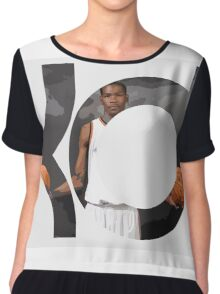 Kevin Durant ball in hands Chiffon Top