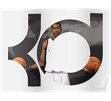 Kevin Durant ball in hands Poster