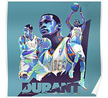 Kevin Durant Abstract Art Poster