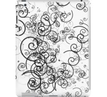 Black and White Girly Swirls iPad Case/Skin