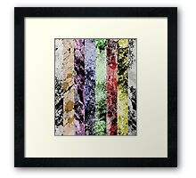 Marble Fence Framed Print