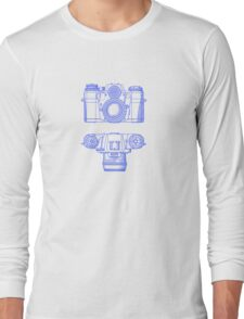 Vintage Photography - Contarex - Blue Long Sleeve T-Shirt
