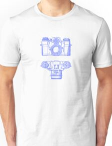 Vintage Photography - Contarex - Blue Unisex T-Shirt
