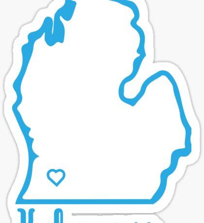 Kalamazoo Blue Map Sticker