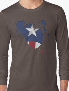 Ripped Star Spangled  Long Sleeve T-Shirt