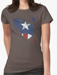 Ripped Star Spangled  Womens Fitted T-Shirt