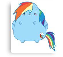 Rainbowdash Kitty Canvas Print