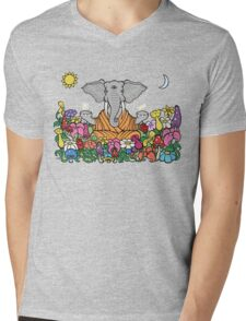 Third Eye Elephant Mens V-Neck T-Shirt