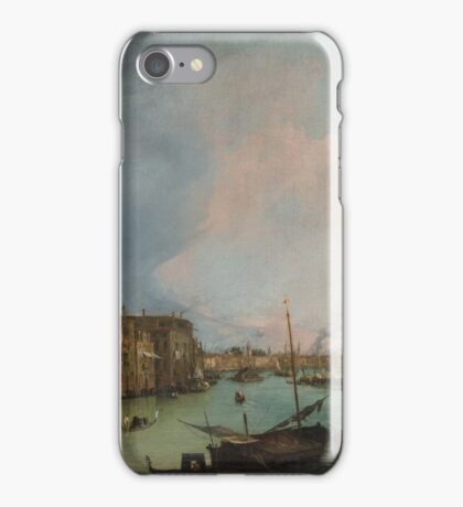 Canaletto Bernardo Bellotto - The Grand Canal in Venice with the Rialto Bridge 1724 iPhone Case/Skin
