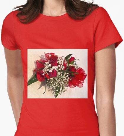 Babies Breath and Roses Womens Fitted T-Shirt