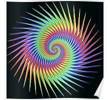 Dizzy Swirling Rainbow Spin Poster