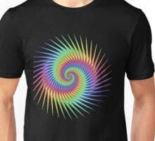 Dizzy Swirling Rainbow Spin Unisex T-Shirt