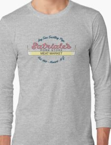 Satriale's - Meat Market New Jersey Long Sleeve T-Shirt