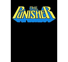 The Punisher - Classic Title - Clean Photographic Print