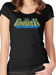 The Punisher - Classic Title - Dirty Women's Fitted Scoop T-Shirt