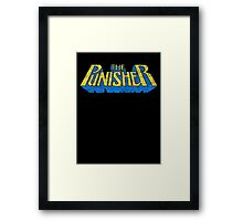The Punisher - Classic Title - Dirty Framed Print