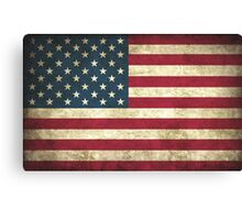 Weathered American Flag Canvas Print