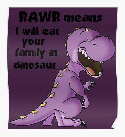 Realistic Dinosaur  Poster