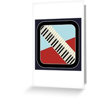 Old Keyboard Sign Greeting Card