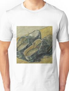 Vincent Van Gogh  - A pair of leather clogs, 1888. Famous Paintings. Impressionism. Unisex T-Shirt