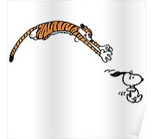 Snoopy And Hobbes Poster
