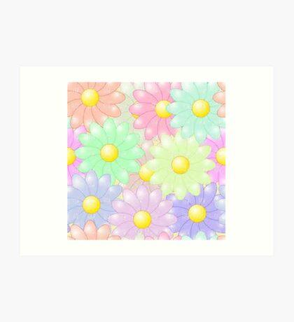 Multi-colored Flower Pop Art Print