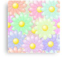 Multi-colored Flower Pop Metal Print